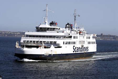 DENMARK  HELSINGOER _ Scandlines ferry sail between Helsingoer Denmark till and from Helsingbor Sweden 10 April 2011        Editorial