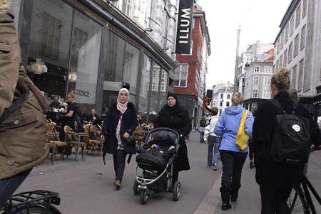 immigrants: DENMARK  COPENHAGEN _  Muslin immigrants females with headscraf 11 April 2011       Editorial