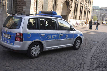 BREMEN _  GEERMANY  German law and order police car (polizei auto)  on 18 April 2011