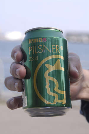pilsner: DENMARK  COPENHAGEN _ Irma Pilsner this new pilsner to drink can bought at Irma chain stores 27 April 2011        Editorial