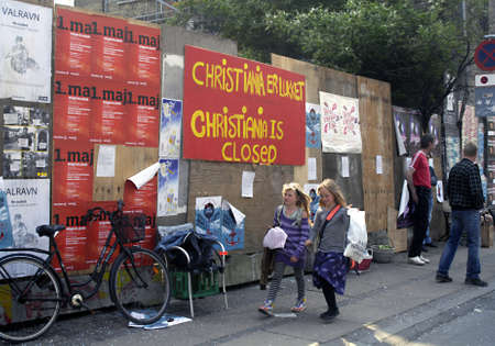 DENMARK  COPENHAGEN _Christianias closed today for tourist and public today due to enternal matter to discuss agreement with danish state, danish state has given altimate to Christianianate ,today is closed for selling any hash ,drugs and other attractio