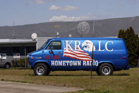 hometown: LEWISTONIDAHO STATE USA _ am 1350 krlc hometown Radio station building and  promtion auto 4 June 2011
