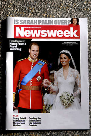 LEWISTONIDAHO STATE USA _USA NEWSWEEK AMERIAN ISSUE WITH KATE AND WILL PHOTOGRAPH ON COVER  ROYAL WEDDING 5 MAY 2+11