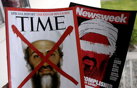 LEWISTON/IDAHO STATE /USA _ American News magazine Time and Newsweek Osama ben Laden   dean news  on recently american issues 7 April 2011 Stock Photo - 9475475