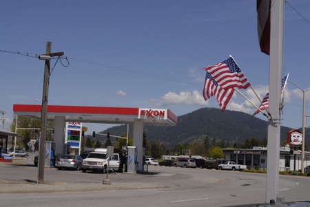 SPOKANE   WASHINGTON STATE STATE USA _Rising gas prices in United States 19 May 2011    Editorial
