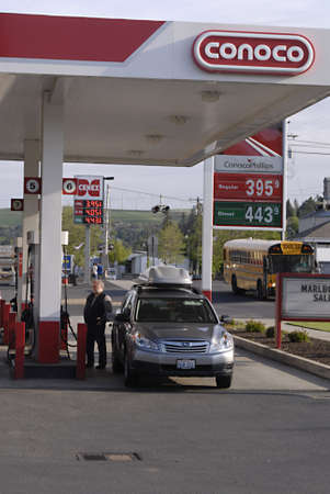 colfax: OTHELO AND COLFAX  WASHINGTON STATE STATE USA _  Rising gasoline prices in various gas station in various state  23 May 2011   Editorial