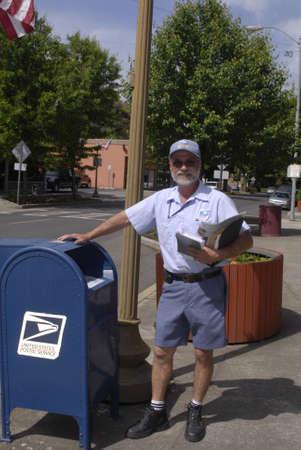 post man: LEWISTONIDAHO STATE USA _  uNITED sTATES POSTAL SERVICE ,USA MAIL MAN OR POST MAN WITG POST 25 MAY 2011