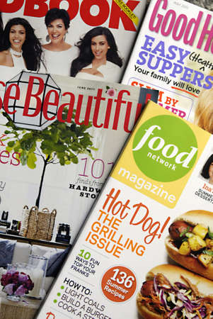 LEWISTONIDAHO STATE USA _ House hold and table magazines media fastest growing in United States amny famous have their magazine with their names, 2 June 2011