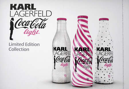 DENMARK / COPENHAGEN _Bill board with  Karl Lagerfeld Coca Cola light limited edition collections 15 July 2011