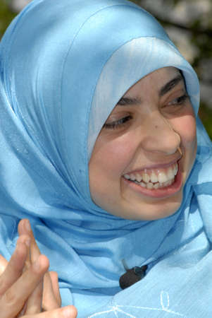 Muslim and arab decent Asmaa Abdol Hamidis first msulim woman with headscarf or hijab candidate for danish parliament (Folketinegt) for left wing party Enhedslisten,accord to other liberla danish and muslim women she Asmaa is has extrim Muslim with muslim