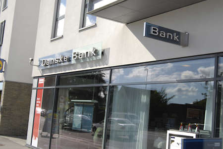 denote: DENMARK  COPENHAGEN _ Danske bank denote money blue block politically parties for disclsoed by socialist political cadidate 2 Sept. 2011
