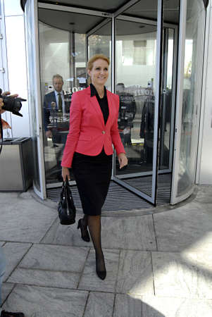 daughter in law: DENMARK  COPENHAGEN _Helle Thorning-Schmidt  Social democrat party leader and Incomming (new prime minister)prime minister of of denmark at Press lunch with Danish National Press Club (den dasnske publiciskklub) she is daughter in law or former birtish l