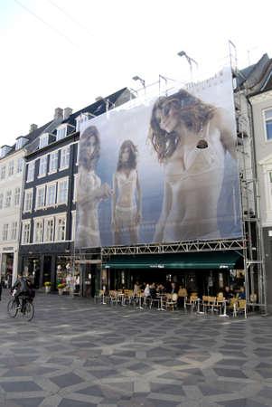 helena: COPENHAGEN _DENMARK. Triumph Underwear Billboard The Luxury Collection with supermodel Helena Christensen 27.sept.2011             Editorial