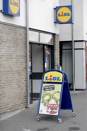 DENMARK / COPENHAGEN _ Exstra state tax on unhealth food goods and tobacco,fat,butter and sugar and other all unhealthy food item high food prices or exstra state tax is from 1 October 2011, Lidl german food chain in Kastrup 2 Oct. 2011  Stock Photo - 10738825
