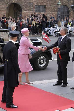 prince of denmark: DENMARK  COPENHAGEN _Danish parliament (Folketinget) opening ceremony Board of parliametn chairman  Mogens Lykketoft and board member welcom royal family of Denmark at Paarliment opening ceremony  Danish royal family H.M.the queen Margrethe II,prince hen