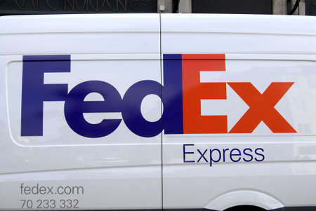 DENMARK  COPENHAGEN _  American Fedexpress deliverly lorry 7 Oct. 2011    Editorial
