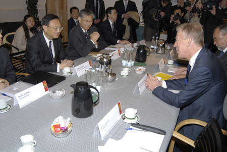 affairs: DENMARK  COPENHAGEN _ Denmarks minister for foreign affairs Villy Sovndal recived Yang Jiechi chinese minister for foreign  affairs  for political talks today on Wedensday 0n 19 Oct. 2011     Editorial
