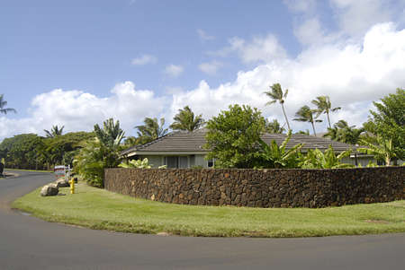 KAUAII / HAWAII/ USA _ 34 percent are Americans from mainland on Hawaii isels state, rich amerian buy and sell (sale) house sale in luxury hosue propertyin  kauai rich residents and resort 11 Nov. 2011   Stock Photo - 11186296