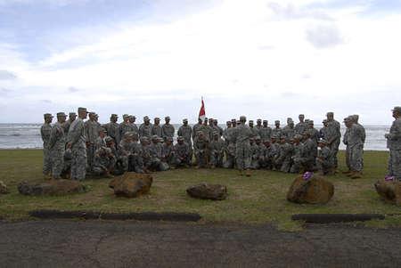 troops: KAUAII  HAWAII USA _usa troops and veteran at USA veteran day celebrations 5 Nov. 2011