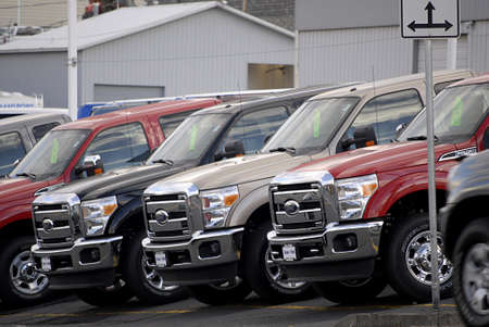 ford: USA  IDAHO STATE  LEWISTON _ Ford auto's of auto dealer 15 november 2011 Redactioneel