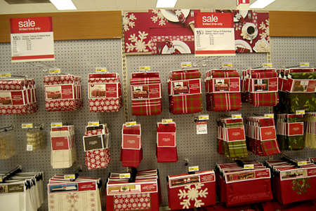 eonomy: USAWASHINTON STATE KENNEWICK_Target has decorated for christiamas sale consumer at target for christams shopping 17 Nov. 2011           Editorial