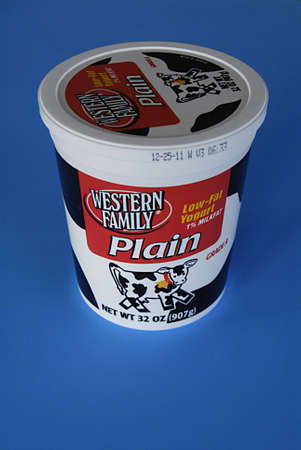 yogurt plain: USA  IDAHO STATE  LEWISTON _ yogurt magro famiglia occidentale yogurt bianco 1 per cento di grassi del latte 1 Dicembre 2011