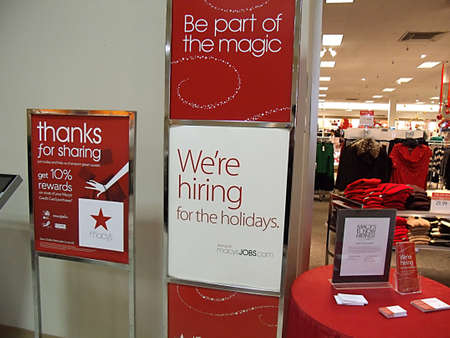 macys: USAIDAHO STATE LEWISTON _Macys hiring forholiday 7 Dec. 2011       Editorial