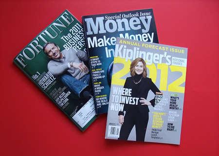 USA/IDAHO STATE/ LEWISTON _ American three finance news magazine ,Fortune,money and Kliplinger's 8 Dec. 2011