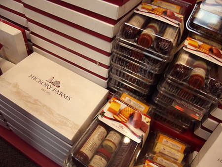 polictics: USAIDAHO STATE LEWISTON _  Hickory Farms shop sells food in fancy boxes at Lewiston Mall Center 10 Dec. 2011