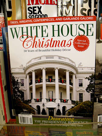 polictics: USAIDAHO STATE LEWISTON _Photographic book white house christmas decorating the presidential residence at book store 11 Dec. 2011