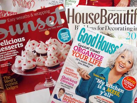 USA/IDAHO STATE/ LEWISTON _American women house holdmagazine  food,house decration garden good house etc.13 Dec. 2011        Editoriali