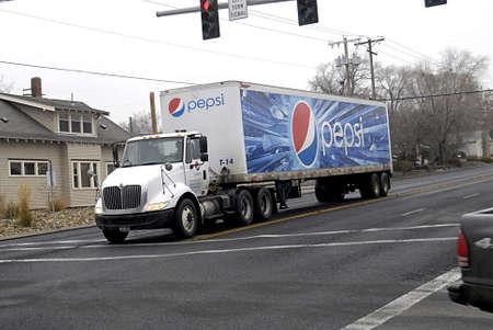 polictics: USAIDAHO STATE LEWISTON _  Pepsi drinks delivery lorry 17 Dec. 2011