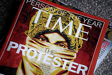 polictics: USAIDAHO STATE LEWISTON _   The protester Time person of the year 20 Dec 2011       Editorial
