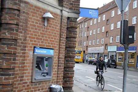 KASTRUPCOPENHAGENDENMARK _ make bikes on kastruplundgae while new atm machine sbeen install by new name banknordik 7 Jan 2012