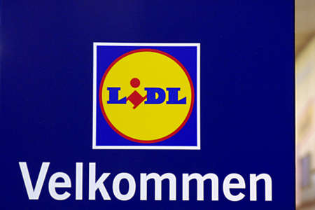 DENMARK  COPENHAGEN _ German Lidl chain food super market expending branchs in various part of Copenhagen City this Lidl is in vesterbro area of city Copenhagen 11 January 2012