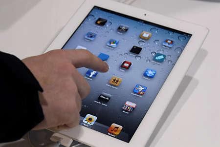 DENMARK / COPENHAGEN _ Ipad display at apple's mac center in Copenhagen Denmark today on 11 January 2012      Editoriali