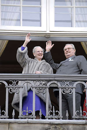 prince of denmark: DENMARK  COPENHAGEN _ H.M.The Queen Margrethe Celebrate her 40 years jubilee as queen of Denmrk on thorne today Consrot Prince Henrik(husband)crown prince Frederik crown princess Mary and princes Chriatian.princess isobela and other grand price and princ