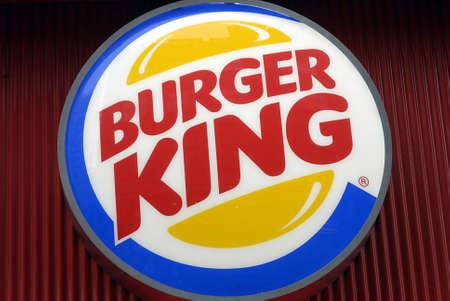 DENMARK  COPENHAGEN _ American fast food chain Burger Kings restaurant  Burger logo 16 Jnuary 2012