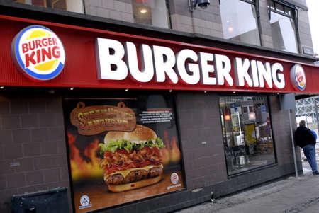 polictis: DENMARK  COPENHAGEN _ American fast food chain Burger Kings restaurant  Burger logo 16 Jnuary 2012