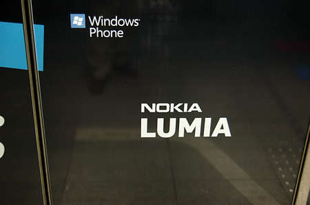 als: DENMARK  COPENHAGEN _Nokia Lumia smartphone als called Window phone spread billoard commmercial at metro computer train kongen nytorvstation tdoay on 25 January 2012