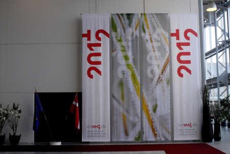 delegates: COPENHAGEN  Danimarca _ delegati mondo a combattere la resistenza antimicrobica in tempo per la conferenza congiunta azione di Copenaghen 14-15 MRCH 2012 presso Conference Center Bella � Heled a Copenaghen a causa di EU2012.dk, Presidenza danese del Consiglio della U europeo