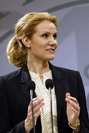 helle thorning schmidt: COPENHAGENDENMARK _  Danish prime minister MS.helle Thorning -Schmidt hold her weekly press conference and high light about new law Lesbian and Homo have same right to get married with Church ceremony but on condition that each Pastor has to be agree he  Editorial