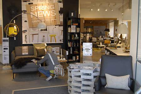 COPENHAGEN/DENMARK _ Danish bolia furniture store 28 March 2012