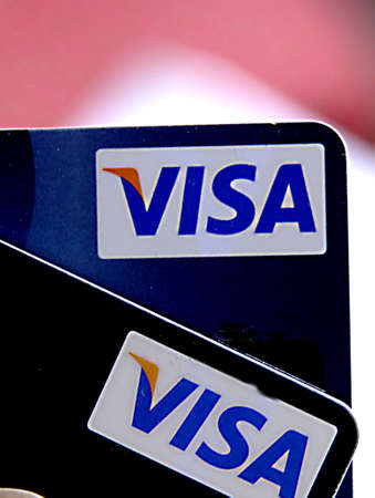 COPENHAGENDENMARK _  Danish visa credit bankcards 3 April 2012