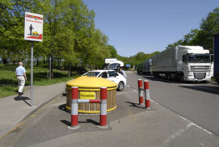 HIGHWAYGERMANY _ German rest area treash containers  on highs 1 May 2012
