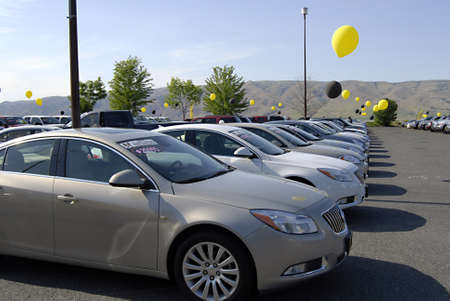 LEWISTON/IDAHO STATE/USA _  Outdoor car sale  by Lewiston car dealer 18 May 2012