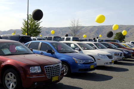 LEWISTONIDAHO STATEUSA _  Outdoor car sale  by Lewiston car dealer 18 May 2012