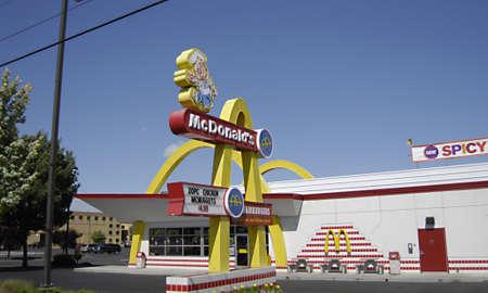 restuarant: LEWISTONIDAHO STATEUSA _  American fast food restuarant McDonalds 17 June 2012      Editorial