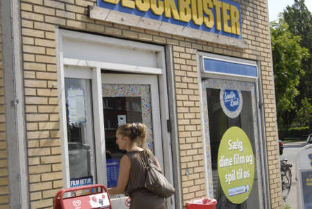 blockbuster: COPENHAGENDENMARK _ fims and DVD sale and  rest to Blockbuster 1 july 2012