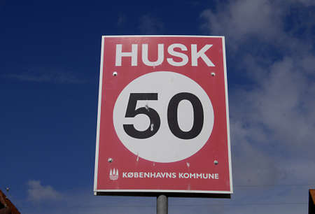 kilometer: COPENHAGENDENMARK _Remember trafic speed limit 509 kilometer in city demond by Copenhagn county 18 July 2012         Editorial